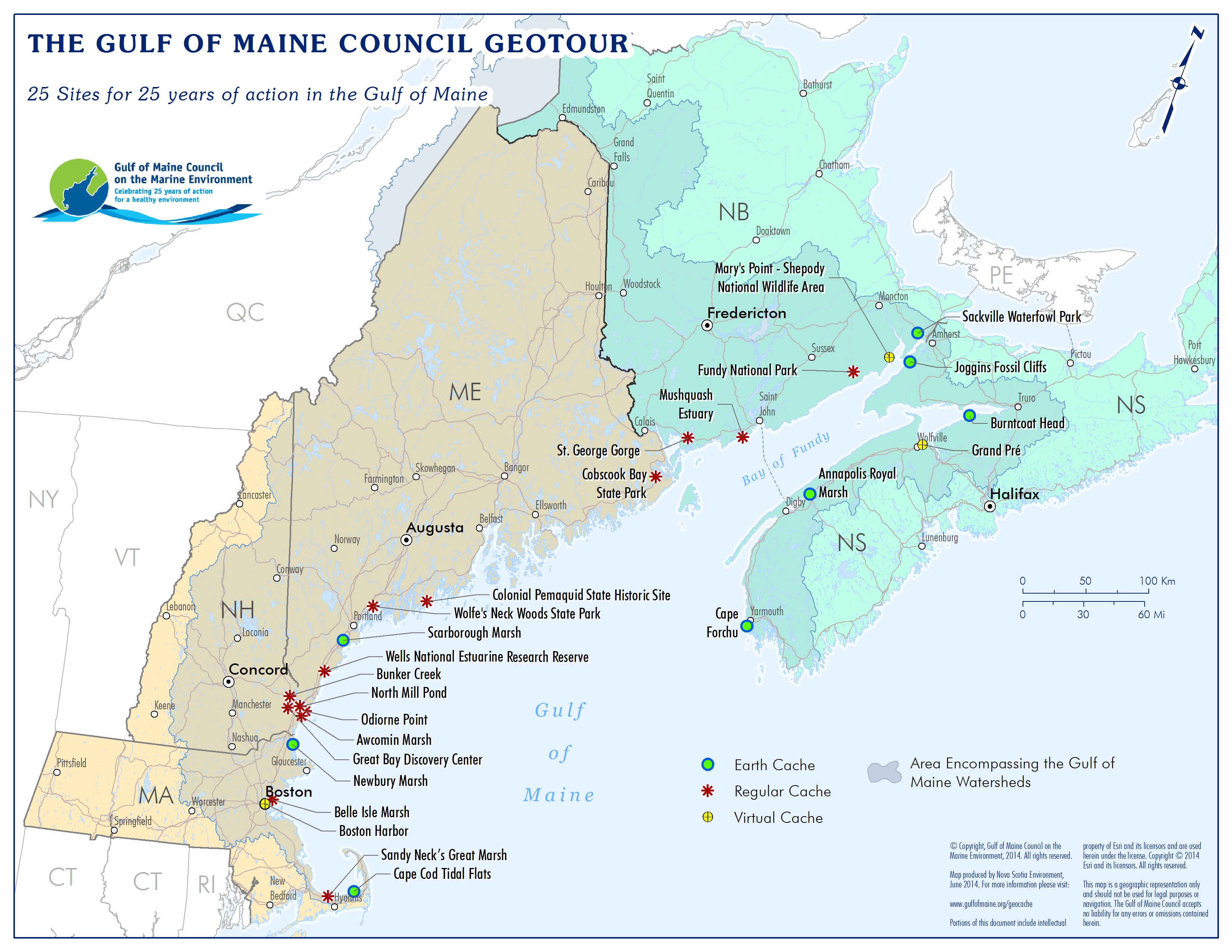 download the geotour map only (pdf  mb). geocache  gulf of maine council on the marine environment