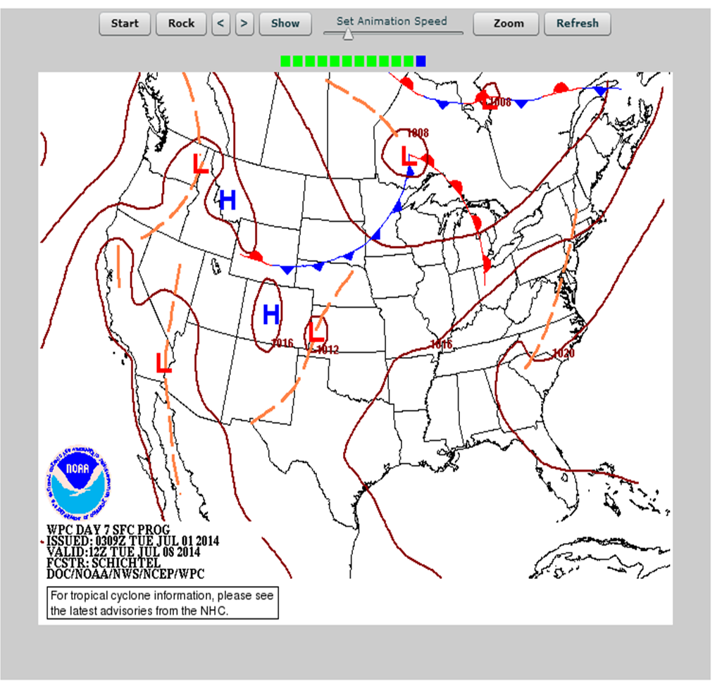 Gulf Of Maine Dashboard - Us weather map 30 day