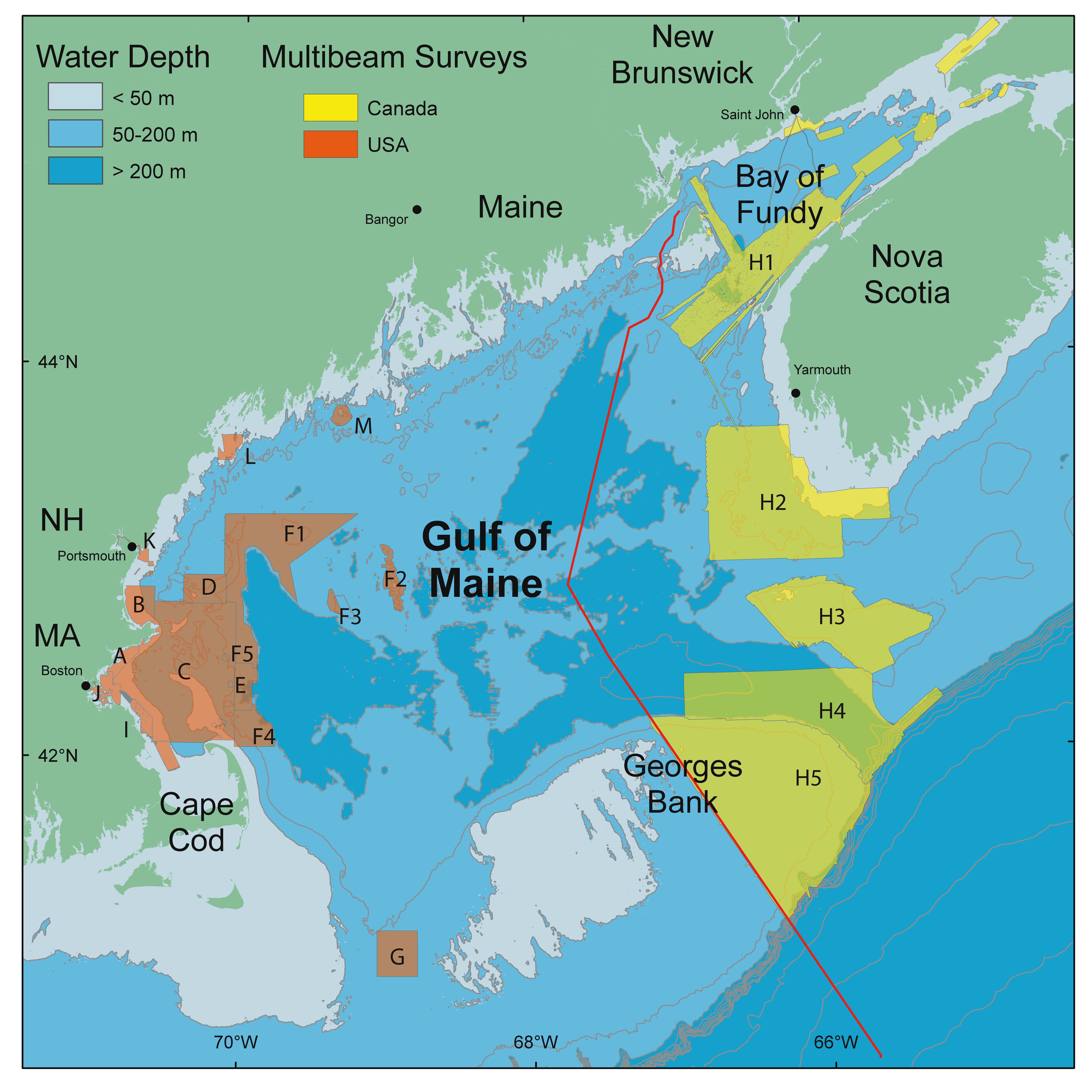 Gulf Of Maine Council - The map of maine